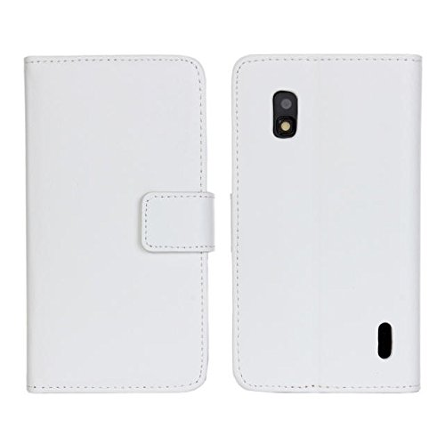 Nexus 4 E960 Case Flip Cover Carry Case Case for LG Google Nexus 4 E960 - White ()