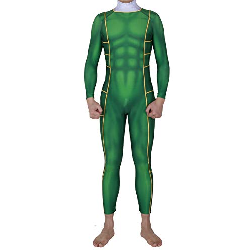 osplay Costume Game Kostüm Halloween Weihnachten Bühne Performance Kleidung Body Jumpsuits,Green-S ()