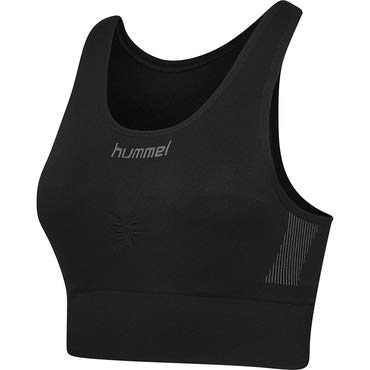 Hummel First Seamless Soutien-Gorge Femme, Noir, FR : S (Taille Fabricant : XS/S)