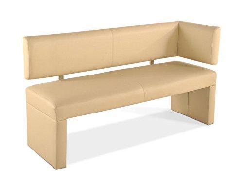 SAM Esszimmer Ottomane Lasandra, 130 cm, creme, Sitzbank mit Rückenlehne aus Samolux®-Bezug, frei im Raum aufstellbare Bank