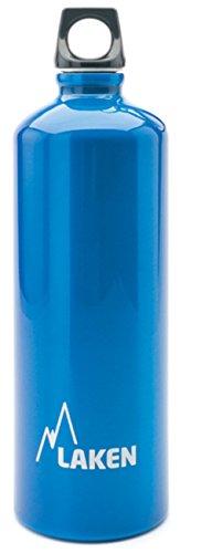 Bottiglia d'acqua Laken Futura bocca stretta tappo a vite con anello e moschettone - 1 Litro, Blu