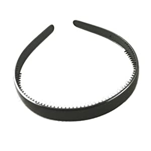Black Plastic Alice Hair Band Headband 1.5cm (0.6) Wide by Pritties Accessories