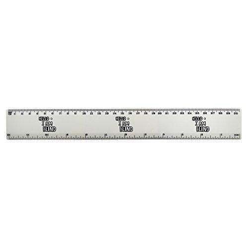 Azeeda 'Hello I'm Blind' 30cm (12 Zoll) weißer Kunststoff Herrscher (RL00025394)