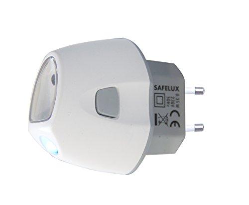 Velamp IR02 Veilleuse avec Fonction Anti Black-Out + Lampe de Poche 14 Lumen Blanc