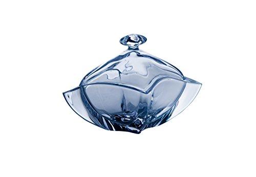 Cristal de Sèvres Nymphea Bonbonnière en Verre 21 cm