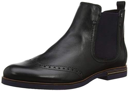 Tamaris Damen 25027-31 Chelsea Boots, Schwarz (Black Uni/Plum 53), 36 EU