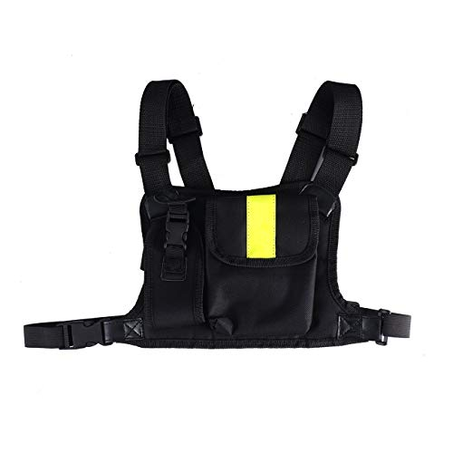 Fannty Chest Harness Pouch Bag Case Mesh Rig Carry Cade Motorola Walkie Talkie
