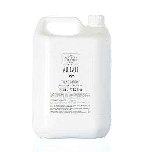 Scottish Fine Soaps Bulk 5L Commercial Au Lait Hand Lotion Refill -