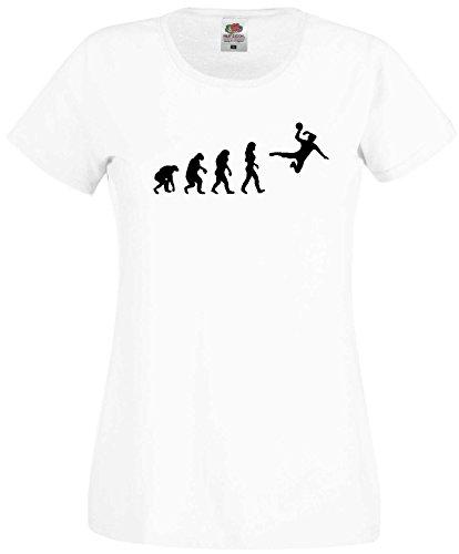 Handball Damen Evolution T-Shirt WM Shirt EM Trikotweiss-XS
