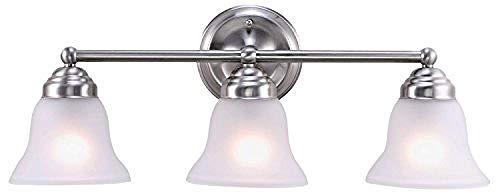2-Licht Badezimmer Vanity Light Interior Wandleuchte Badezimmer Leuchte Über Spiegel W/Mattglasschirm Chrom Poliert -