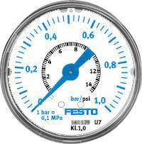 MAP-40-1-1/8-EN (161126) Präzisionsmanometer Anzeigebereich [bar]:0 bis 1bar Nenngröße Manometer:40 Manometer Flüssigkeit