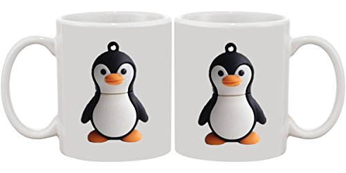 Penguin Ceramic Designer Printed Mug by PUCHKU  available at amazon for Rs.249
