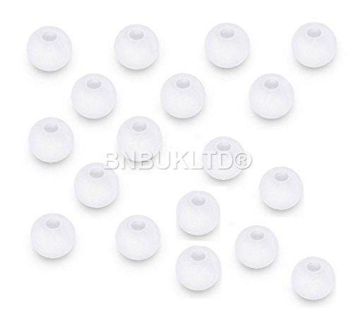 bnbukltd® 24x Ersatz-In-Ear-Kopfhörer aus Silikon Ohrhörer-Spitze Gels Gummi Ersatz Large weiß