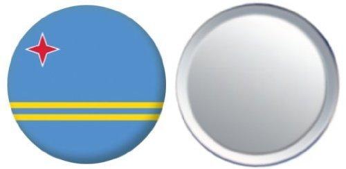 Miroir insigne de bouton Aruba drapeau - 58mm