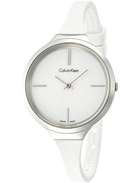 Calvin Klein Damen-Armbanduhr Analog Quarz Kautschuk K4U231K2