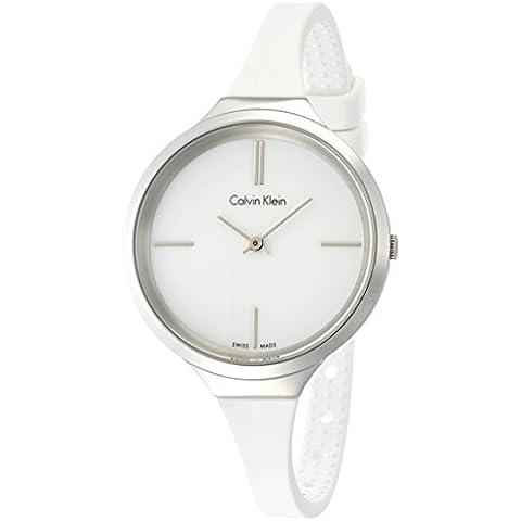 Calvin Klein–Reloj de pulsera analógico para mujer cuarzo caucho k4u231K2