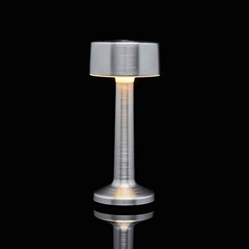 MOMENT-Lampe baladeuse d'extérieur LED rechargeable Cylindre H22,7cm Argenté Imagilights - designé par Gerd Couckhuyt