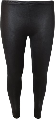 WearAll - Legging à effet moulillé de tout son long - Leggings - Femmes - Tailles 36 à 42 Noir