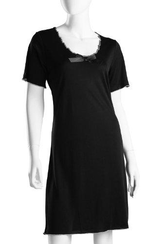 Gattina chemise de nuit à manches courtes Noir - Noir
