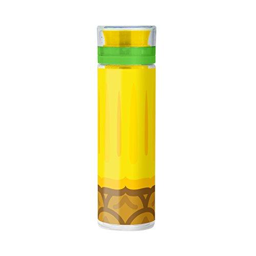 Mustard Bouteille d'Eau avec infuseur à fruits - motif pastèque - Froot Infusing Bottle Ananas