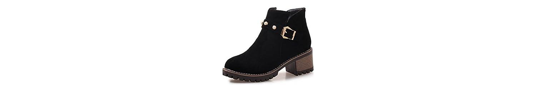 Sandalette-DEDE Mujeres y Botas de Moda, Tacones Altos, Botas de Tubo bajo, Botas de Mujer de Gran tamaño, Negro... -
