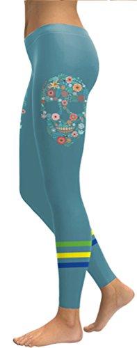 Belsen Damen Leggings mehrfarbig Gem mermaid Leggings Medium Petals skull