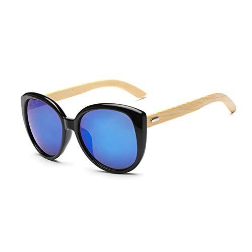 WFOYZNZ Lady Sonnenbrillen Cat Eye Sonnenbrillen rund UV400 Spiegel Gesicht schwarzer Rahmen weibliche Sonnenbrillen Frau Männer Brille