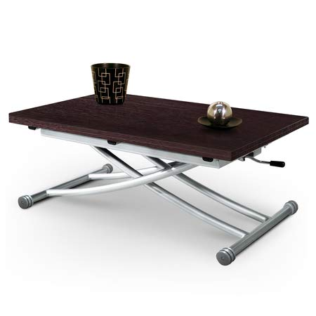 giovanni marchesi design Table Basse RELEVABLE par Piston A GAZ Mirage WENGE