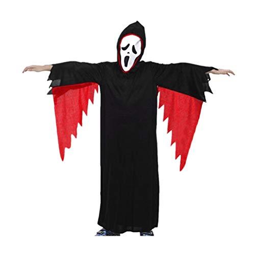 Kinder Umhang Geist und Horror Maske und Halloween Cosplay Kostüm Kleinkind Jungen Mädchen Kinder Halloween Cosplay Kostüm Mantel + Maske Outfits Sets (Geist Halloween Kleinkind Kostüm)