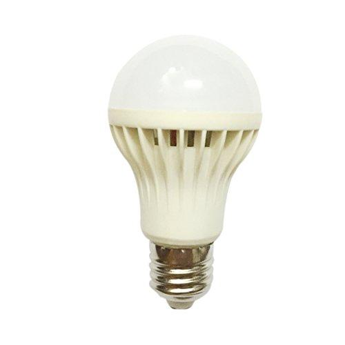 MagiDeal 3W E27 220V Auto LED weiß Ton Licht Sensor Voice Control-Kugel-Lampen-Birne