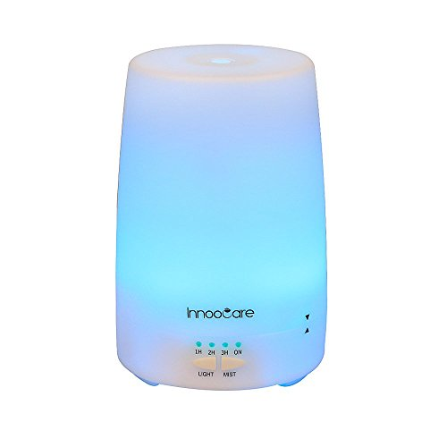 InnooCare 150ml Ultrasonic Humidifier Aromatherapy Essential Oil Diffuser Cold Steam LED Light with 7 Eligible Colors Purify and Humidify Air at Home