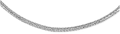 IceCarats 14KT White Gold 17 3.8mm Polished Strech Mesh