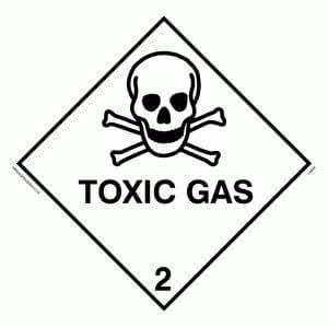 "Viking Signs Ln628-s10-mg ""gaz toxiques"" Sign, 1mm Flexible Magnétique, 100mm x 100mm"