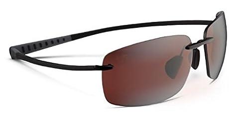 Maui Jim Sunglasses Kumu R724-02 Gloss Black Maui Rose