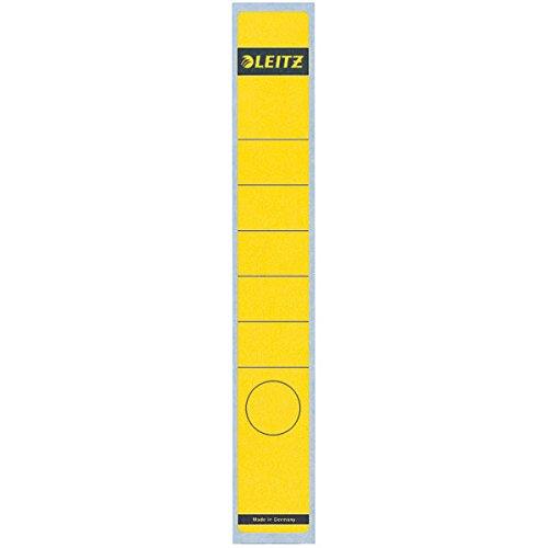 Esselte Leitz Rückenschild selbstklebend, Papier, lang, schmal, 10 Stück, gelb