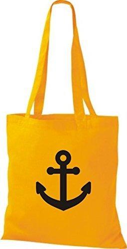 JUTA Borsa di stoffa per barca ancora SKIPPER CAPITANO giallo dorato