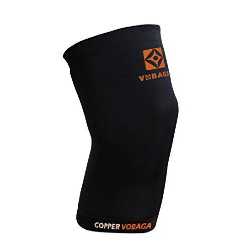 VOBAGA Copper Knieorthese Erholung Nylon Kniehülse Druckpassung Unterstützung - Single XXL