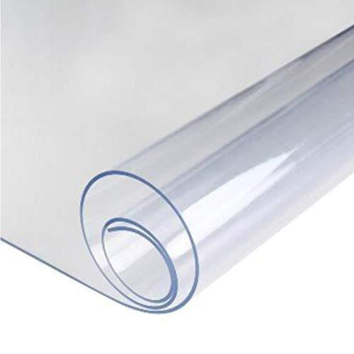DACCU PVC-Tischdeckenschutz, Schreibtischunterlage, weiches Glas, Tischdecke, transparent, 40 x 60 cm (60 X 40 Tischdecke)