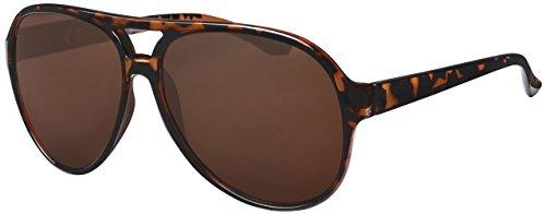 La Optica UV 400 Herren Retro Sonnenbrille Pilotenbrille Fliegerbrille - Einzelpack Glänzend Tortoise (Gläser: Hell))