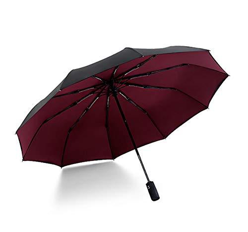 HYFZY Paraguas Plegable Macho automático Prueba Viento