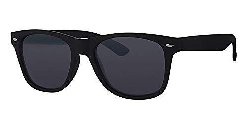 Eyewear World Sonnenbrille, schwarzer Rahmen, Metallscharniere, mit gelbem Halsband, Schwarze Gläser