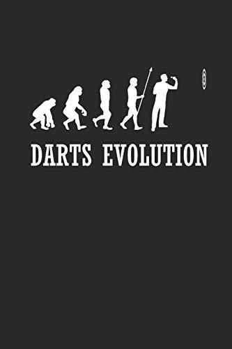 DARTS EVOLUTION: NOTIZBUCH Dart Bullet Journal 6x9 Darts Notebook Punkteraster