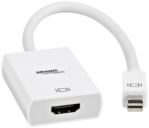 AmazonBasics Adaptador de Mini DisplayPort a HDMI, color blanco