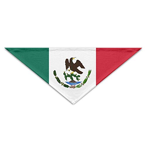 Gxdchfj Pet Scarf, Mexico Flag Stripe Dog Bandanas Scarves Triangle Bibs Scarfs Fashion Basic Neckerchief Cat Collars Pet Costume Accessory Kerchief for Large&Medium&Small Puppy (Bib Fashion Halskette)
