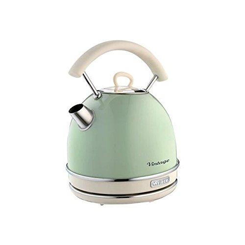Preisvergleich Produktbild Ariete 2877 Vintage Wasserkocher, 2000 Watt, 1,7 Liter, beige / grün