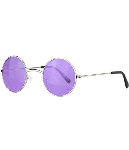 Lennon Brille John Lila (caripe runde Sonnenbrille Brille Lennon - (059 - silber -)