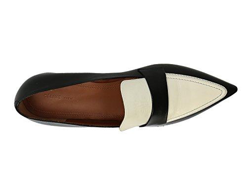 Ballerines Céline en cuir bicolore noir et blanc - Code modèle: 315153BPLC 38NO Noir