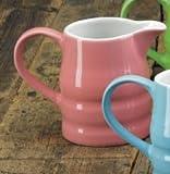WM Bartleet & Sons Pink Churn Jug 1/2 Pint