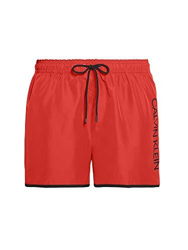 Calvin Klein Short Runner Bañador, Rojo High Risk XBG, Small para Hombre