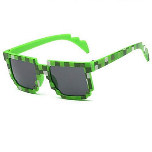 LKHJ Sonnenbrillen Brille Pixel Kinder Sonnenbrille Baby Jungen Mädchen Mosaik 2-10 Jahre Platz Sonnenbrille Jungen Kinder Uv400